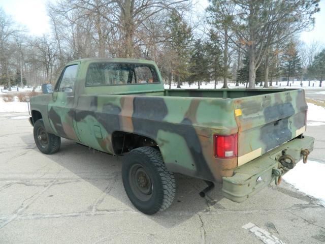 1985 Chevrolet M1008 CUCV 4X4 K30 military 5/4 ton pickup ...
