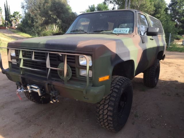 1985 Chevy Blazer K5 Cucv M1009 Military