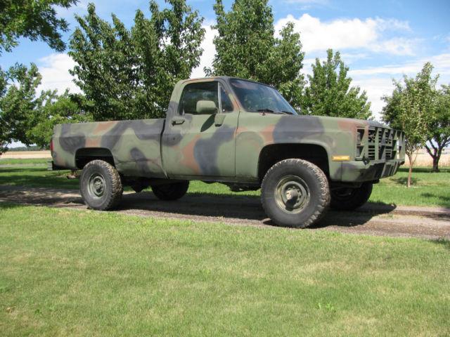 1985 Chevy M1008 Diesel Millitary 1 1 4 Ton Pickup