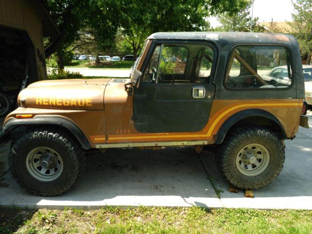 Classic Jeeps For Sale >> 1985 Classic Jeep Cj 7 Renegade Sell Trade Obo 00 Classic Jeep