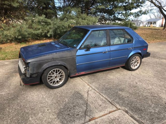 1985 dodge omni glh t santa fe blue turbo classic dodge omni 1985 for sale. Black Bedroom Furniture Sets. Home Design Ideas