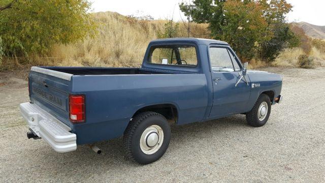1985 Dodge Ram D150 Shortbed 46k Actual Miles Slant 6