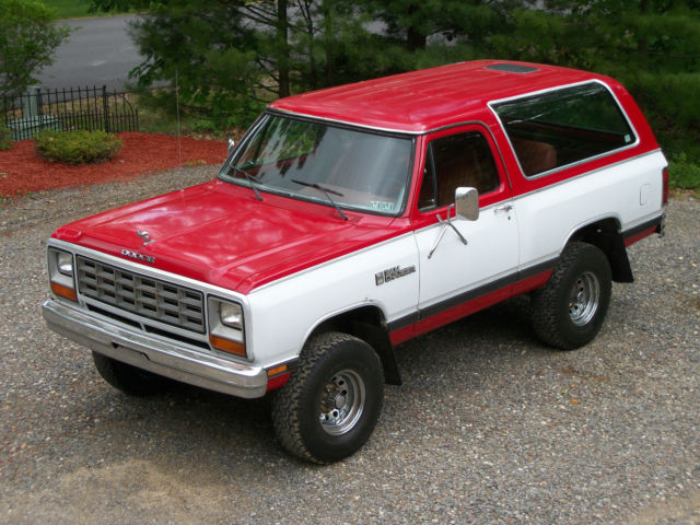 Dodge Ramcharger Royal Se X Utility One Owner Mopar Plymouth on 1985 Dodge Power Ram 4x4