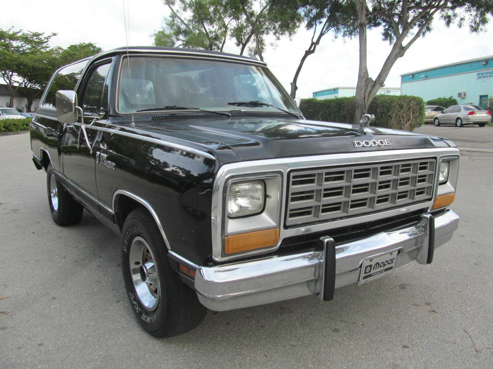 1985 dodge ramcharger suv mopar hot rod classic antique truck nice florida classic dodge. Black Bedroom Furniture Sets. Home Design Ideas