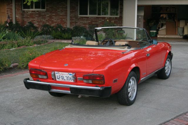 1985 Fiat Pininfarina Spider Azzura Convertible California Rust Free
