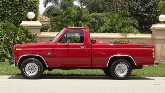 1985 ford xl lariat explorer f150 with 26 000 one owner miles like new must see classic ford f. Black Bedroom Furniture Sets. Home Design Ideas