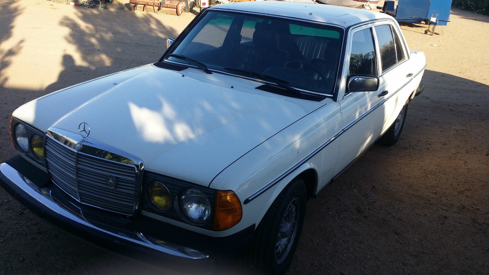 1985 mercedes 300d turbo white with blue interior loaded for 1985 mercedes benz
