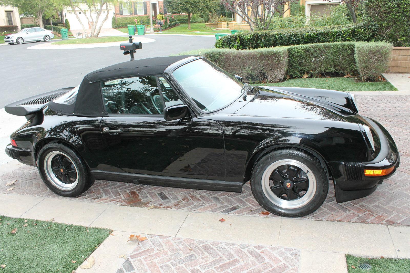 1985 Porsche 911 Carerra Cabriolet Triple Black 930 Whale
