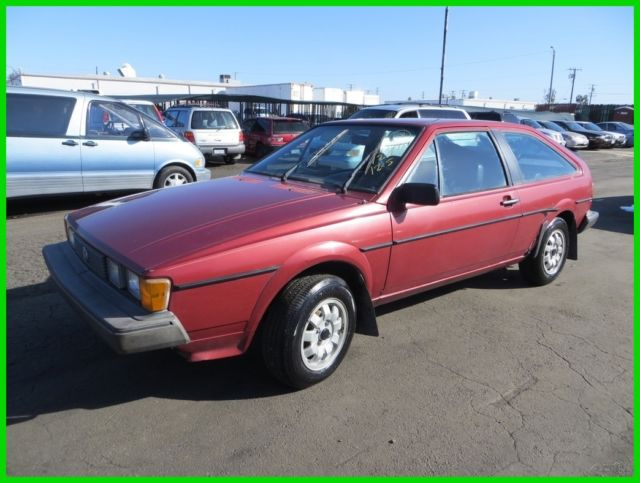 1985 Volkswagen Scirocco 2-Door Coupe Used 1 8L I4 8V Manual NO