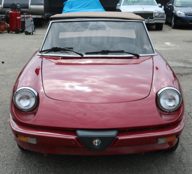 1986 alfa romeo spider veloce convertible 5 speed alfa red 2 door coupe classic alfa. Black Bedroom Furniture Sets. Home Design Ideas
