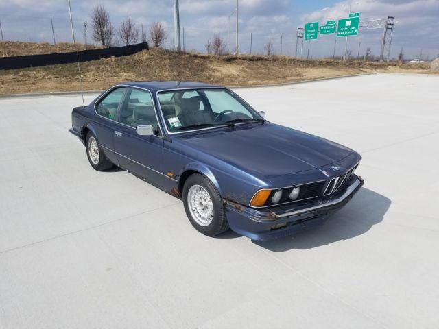 1986 bmw 635csi euro blue classic bmw 6 series 1986 for sale