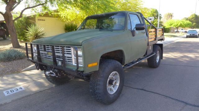 1986 Chevrolet Cucv M1008 Army Military Truck 1 25 Ton K30