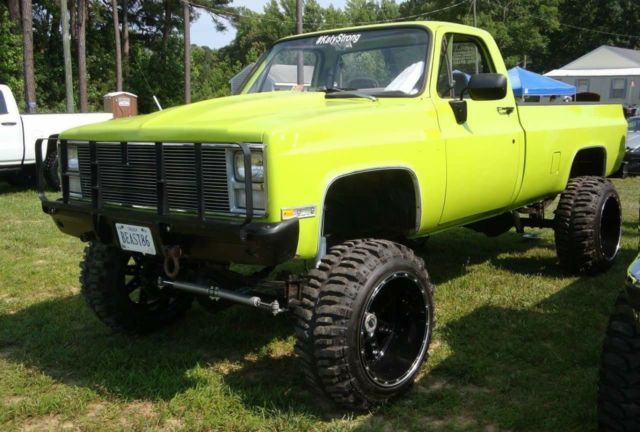 1986 Chevrolet K30 4x4 Lifted On 22x14s And 35 Boggers