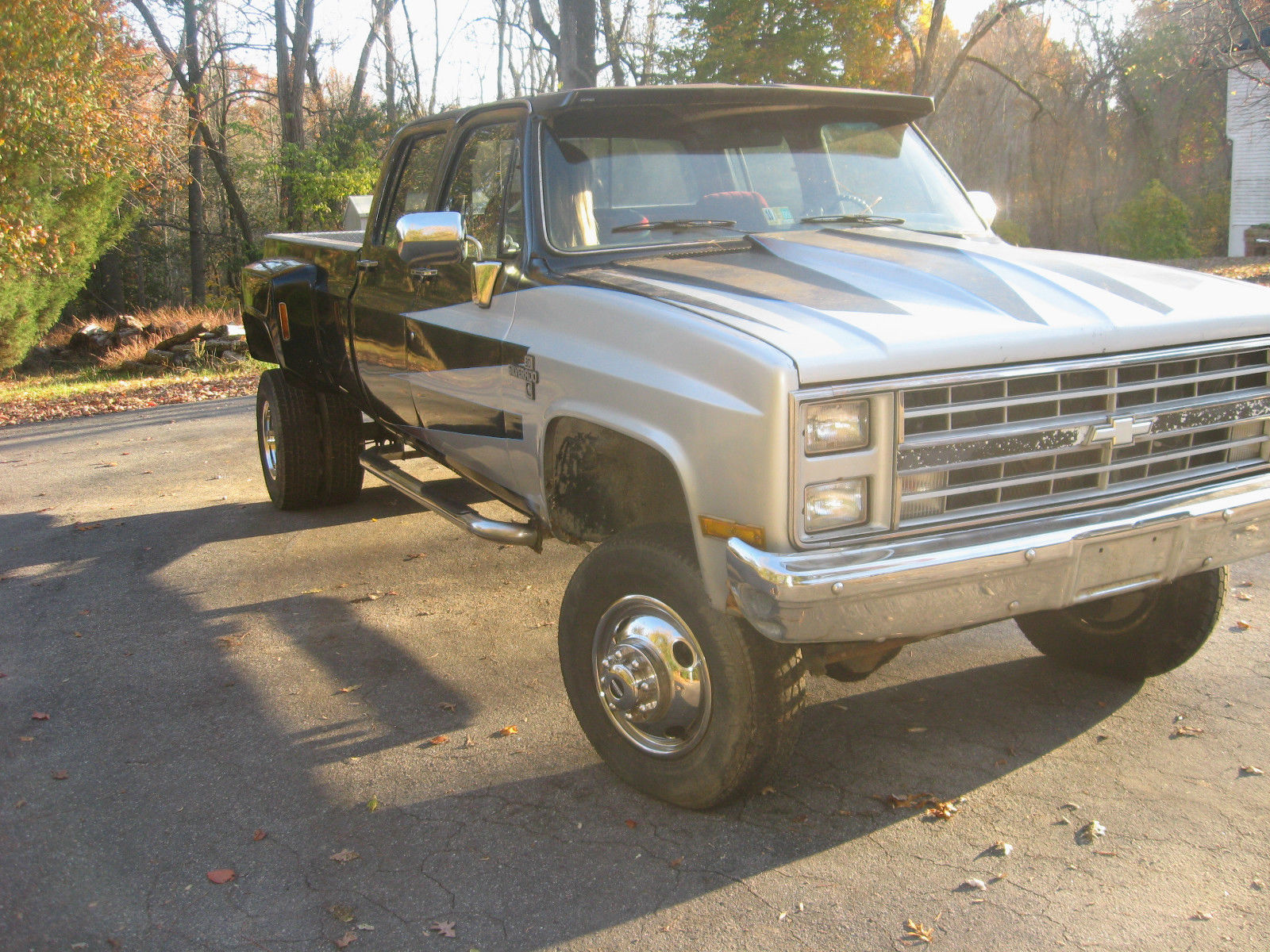 1986 chevy 1 ton dually crew cab lifted 4x4 pick up. Black Bedroom Furniture Sets. Home Design Ideas