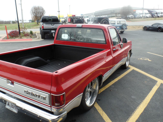 1986 CHEVY C10 LOWERED ON BUDNIKS 20/22 WHEELS - Classic ...