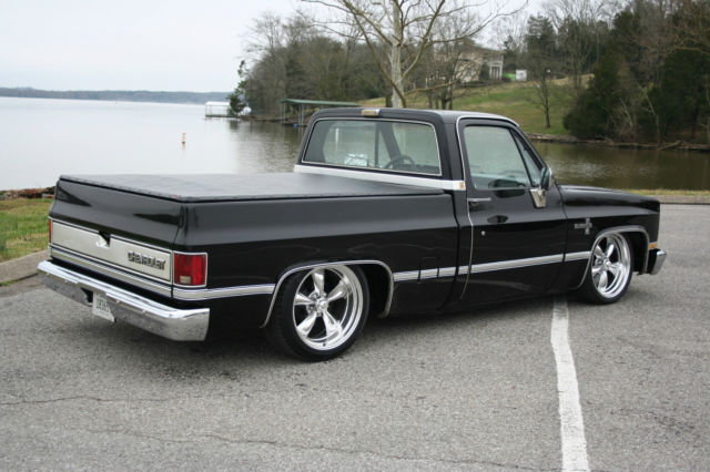 1986 chevy c10 swb air ride 20 american racing wheels classic chevrolet c 10 1986 for sale. Black Bedroom Furniture Sets. Home Design Ideas