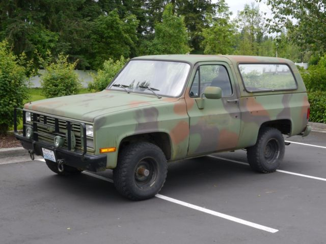 1986 Cucv M1009 Military Blazer 6 2l Diesel 4wd K5 Survival Bugout Expedition Classic