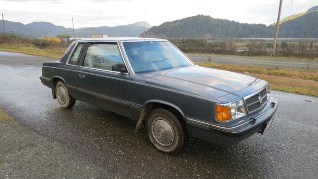 1986 Dodge Aries Se Coupe 2 Door 2 2l A Rare Survivor With Low Low