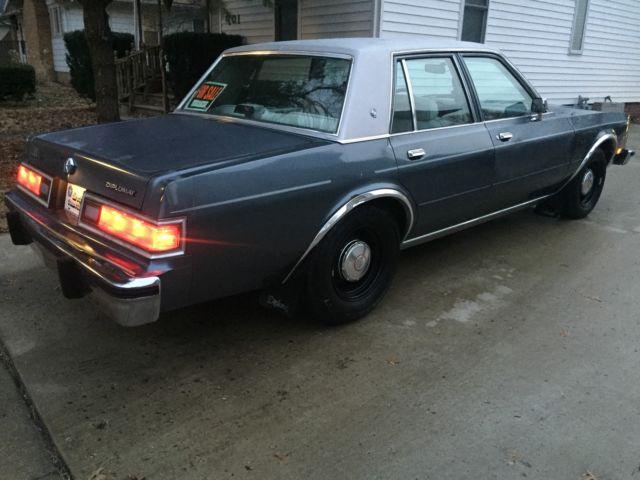 Cop Car For Sale >> 1986 DODGE DIPLOMAT SE! 90% RUST FREE!! COP POLICE CAR WHEELS!!! SUPER NICE!! LR - Classic Dodge ...