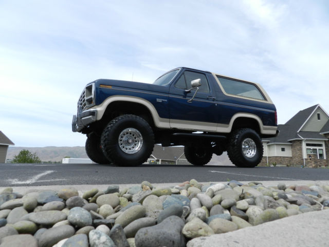 Ford F150 4x4 For Sale >> 1986 Ford Bronco Eddie Bauer lifted 4x4 f150 uner 100k original miles must see - Classic Ford ...