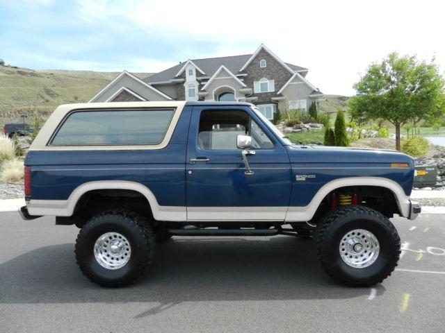 1986 Ford Bronco Eddie Bauer Lifted 4x4 F150 Uner 100k