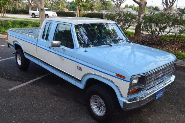 Ford F X Xlt Lariat Supercab Original So Cal Rust Free No Reserve