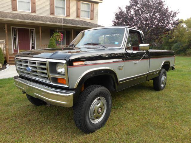 1986 ford f 250 4x4 xlt with 75 000 orig mi 100 orig rust free beautiful truck classic ford f. Black Bedroom Furniture Sets. Home Design Ideas