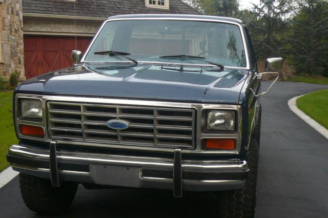 1986 Ford F150 Xl Flareside 4x4 Rare Model Rust Free