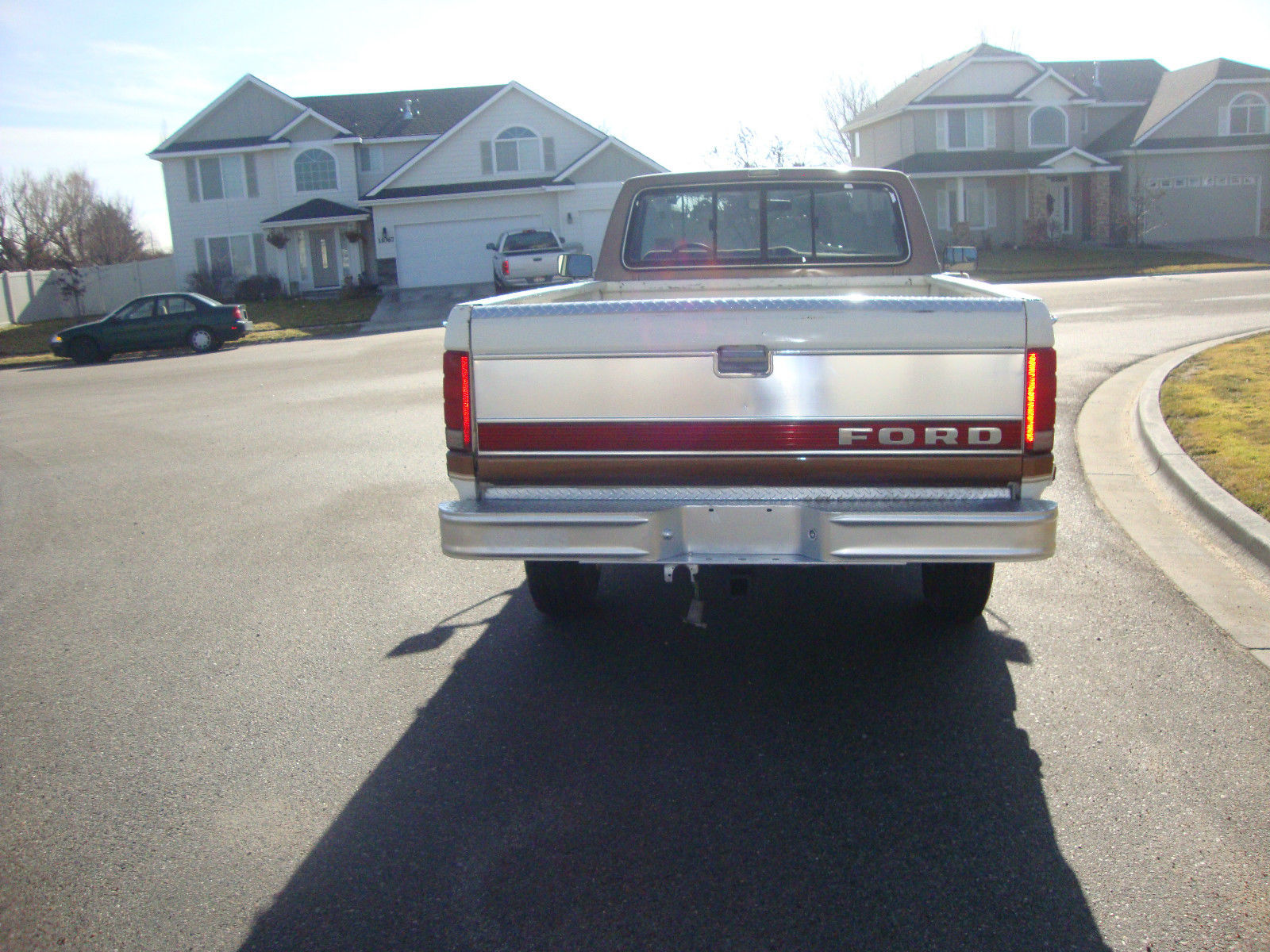 1986 Ford F250 Brown And White 4x4 Very Clean Nice No Rust 1955 F100