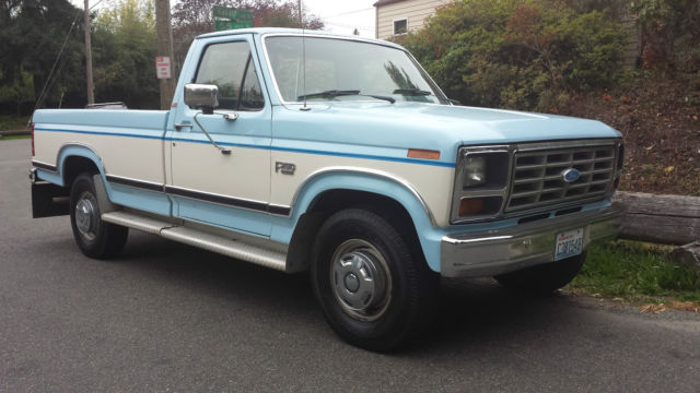 1986 ford f250 xlt lariat all original one owner low miles classic ford f 250 1986 for sale. Black Bedroom Furniture Sets. Home Design Ideas