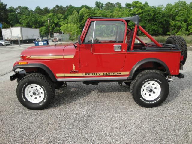 1986 jeep cj7 liberty edition classic jeep cj 1986 for sale. Black Bedroom Furniture Sets. Home Design Ideas