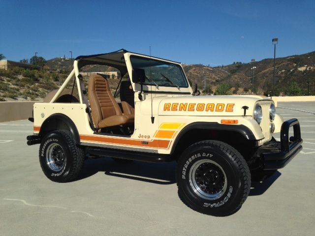 1986 jeep cj7 renegade 4x4 california jeep low miles free shipping classic jeep cj 1986 for sale. Black Bedroom Furniture Sets. Home Design Ideas