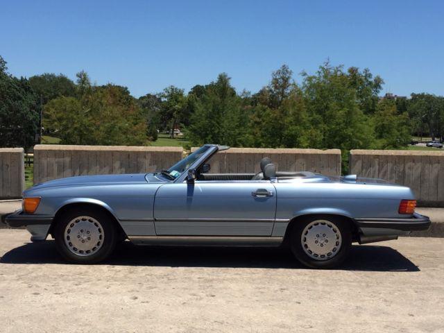 1986 mercedes benz 560sl w107 db 335 diamond blue for Mercedes benz service santa monica