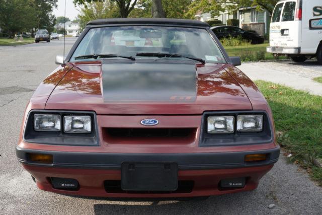 1986 Mustang Gt Convertible 19 000 Original Miles 5 0