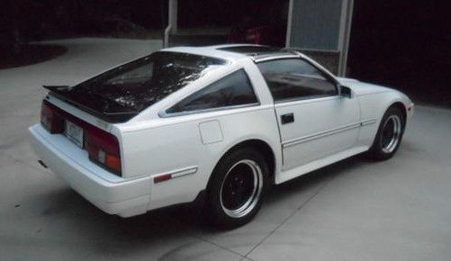 1986 nissan 300zx 2 seater white w red interior t tops. Black Bedroom Furniture Sets. Home Design Ideas