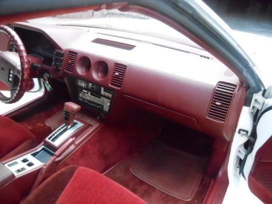 1986 Nissan 300ZX 2-Seater White w/ Red Interior & T-Tops ...