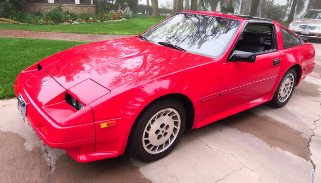 Nissan Datsun Turbo Zx Red Coupe Tt K Miles One Owner Black Interior