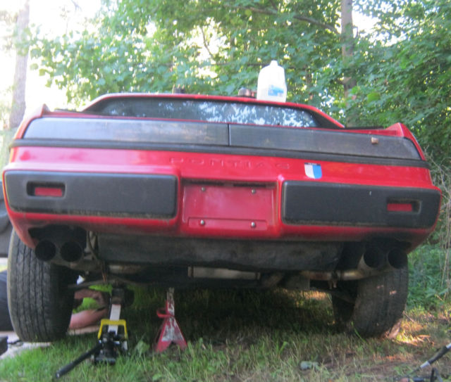 Unfinished Wide Body Pontiac Feiro Gt For Sale: 1986 Pontiac Fiero Sport Coupe PARTS/PROJECT Car V6 2.8L