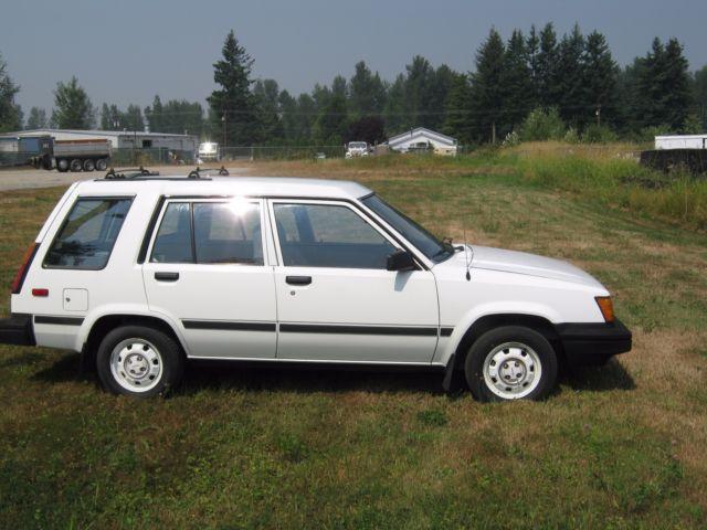 1986 Toyota Tercel 4wd Wagon 53 K Original Classic