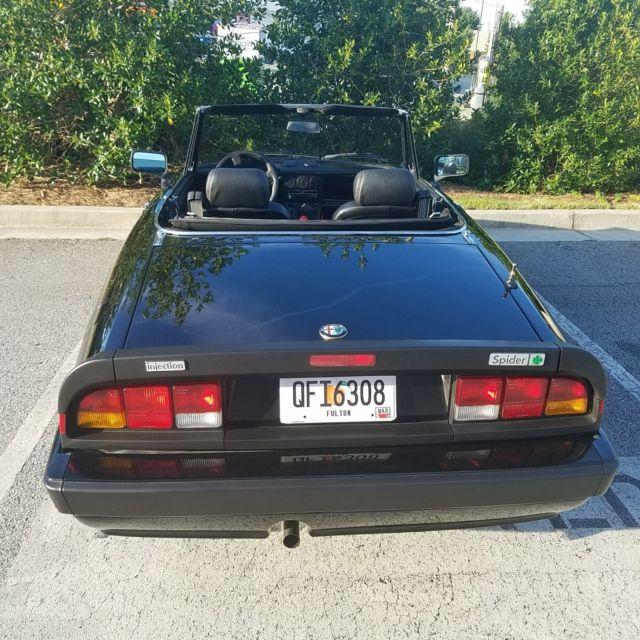 1987 Alfa Romeo Spider Quadrifoglio With Hardtop