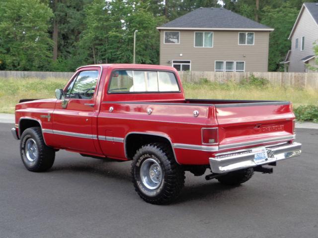 1987 Chevrolet C10 K10 V10 K5 Silverado 1500 Custom Deluxe