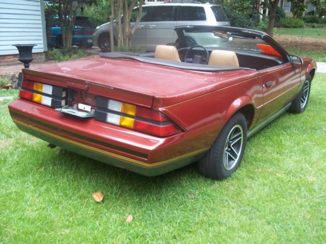 1987 Chevrolet Camaro Asc Convertible Classic Chevrolet