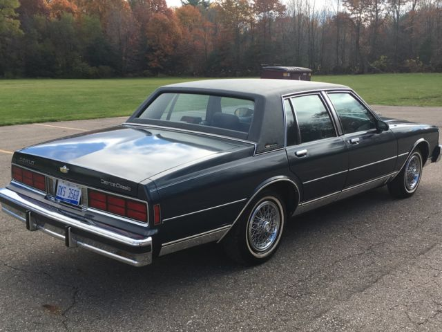 1987 chevrolet caprice classic brougham 17k original miles. Black Bedroom Furniture Sets. Home Design Ideas