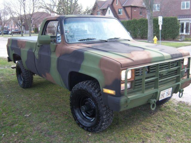 1987 Chevrolet Cucv M1008 Military Pickup Truck Classic