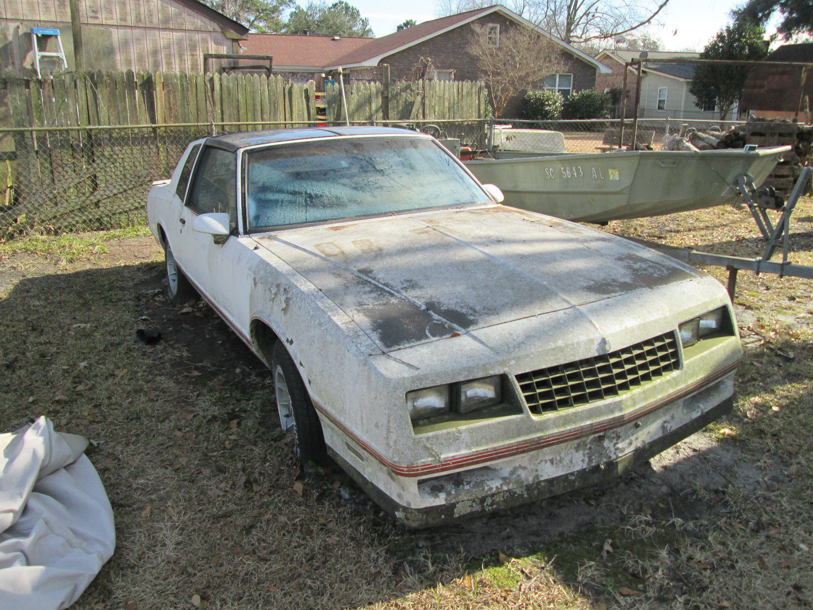 1987 Chevrolet Monte Carlo Ss Aerocoupe As Is For Parts Or To Restore Classic Chevrolet Monte