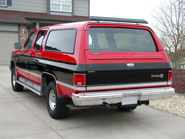 Chevy Colorado 4wd 1987 CHEVROLET SUBURBAN SILVERADO 4X4 - Classic Chevrolet ...
