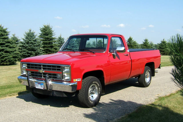 1987 chevy silverado full size 4x4 pickup truck classic chevrolet c k pickup 1500 1987 for sale. Black Bedroom Furniture Sets. Home Design Ideas