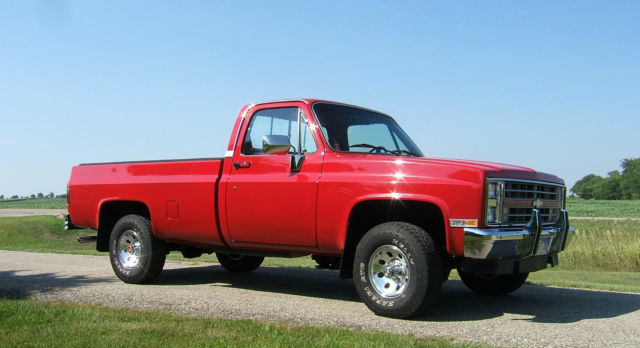 1987 chevy silverado full size 4x4 pickup truck classic chevrolet c k pickup 1500 1987 for sale. Black Bedroom Furniture Sets. Home Design Ideas