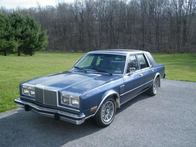 1987 chrysler fifth avenue sedan 4 door 5 2l classic chrysler other 1987 for sale. Black Bedroom Furniture Sets. Home Design Ideas