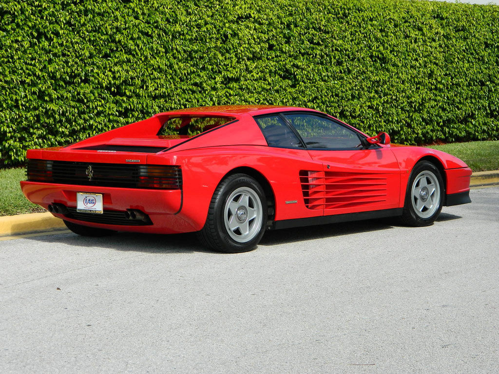 1987 ferrari testarossa red black single lug 9800 original. Black Bedroom Furniture Sets. Home Design Ideas